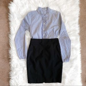 J.crew top + H&M pencil skirt business casual